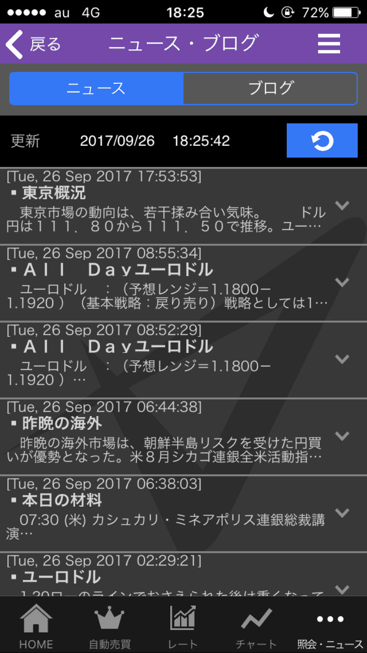 トライオートFXアプリのニュース