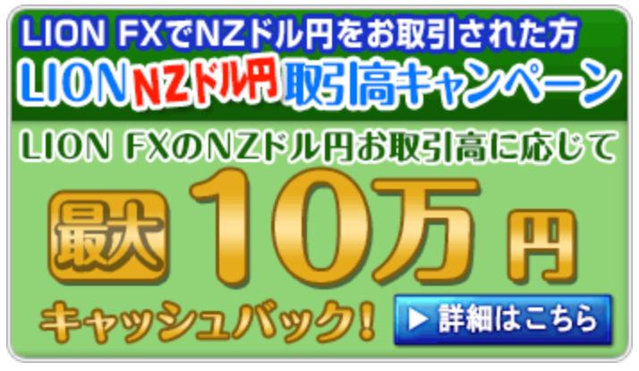ヒロセ通商キャッシュバックキャンペーンNZドル円